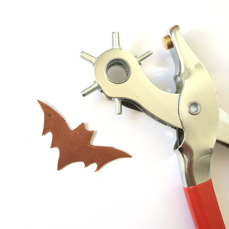 Cut out leather bat shape - northstory