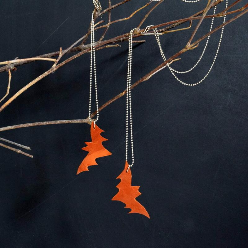 DIY Leather Bat Necklace - northstory