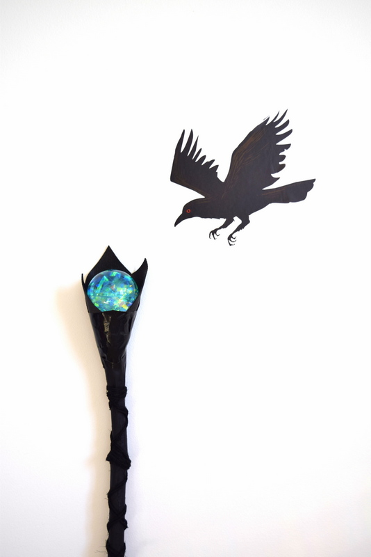DIY Maleficent Staff for a child's Halloween costume - northstory
