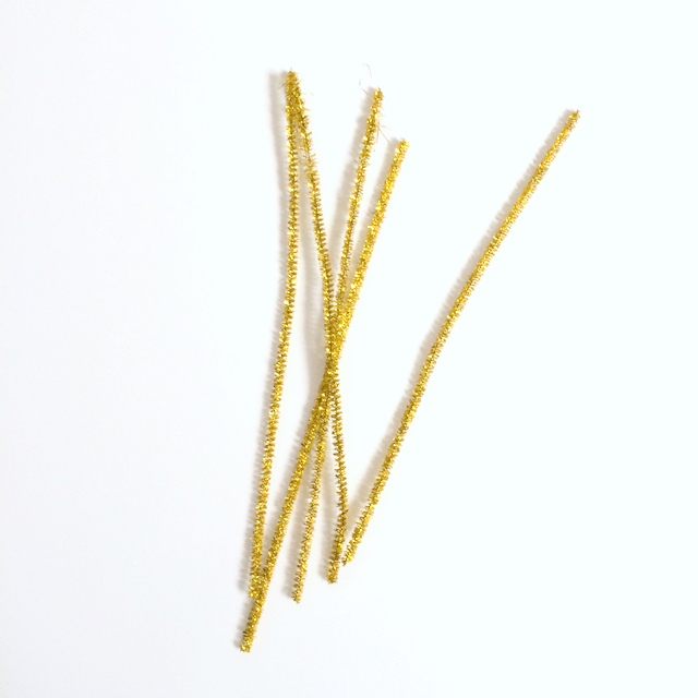 gold pipe cleaners