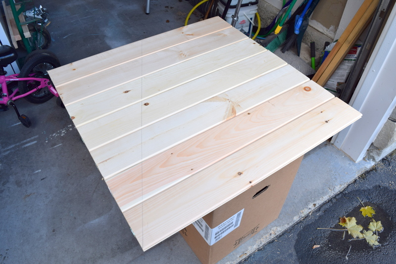Building a wood Christmas tree from tongue and groove flooring - northstory
