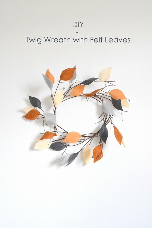 DIY - Twig Wreath with Felt Leaves - northstory