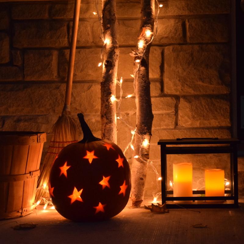 Halloween Front Porch Decor & Halloween Lighting - northstory