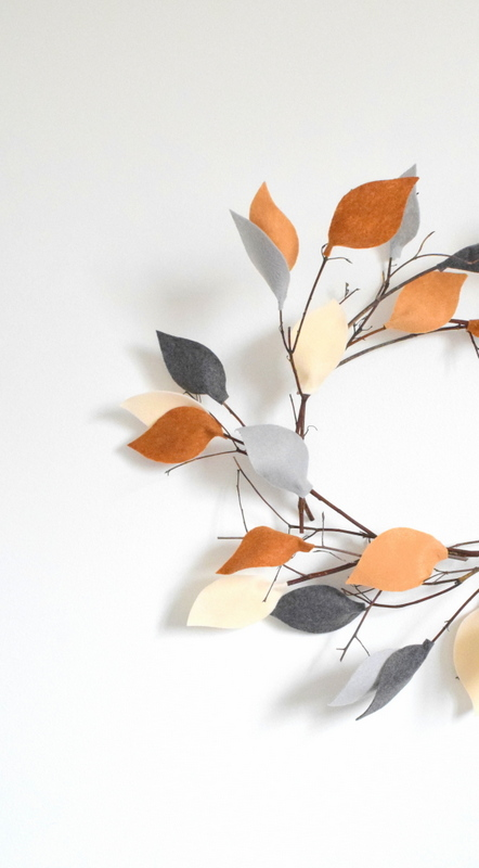How to make a twig wreath with felt leaves - northstory