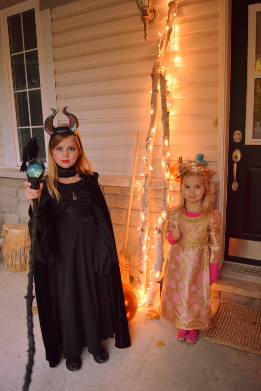 My little Maleficent and Princess Aurora on Halloween - northstory