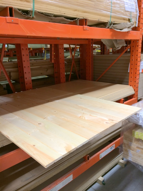 Tongue and groove flooring at the Home Depot