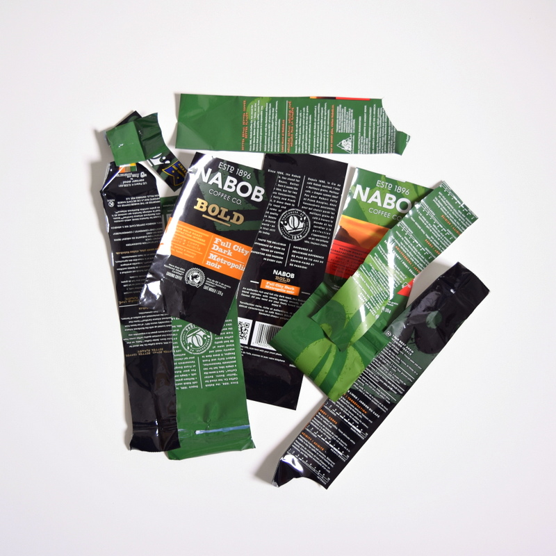 Upcycling NABOB coffee bags Step 2