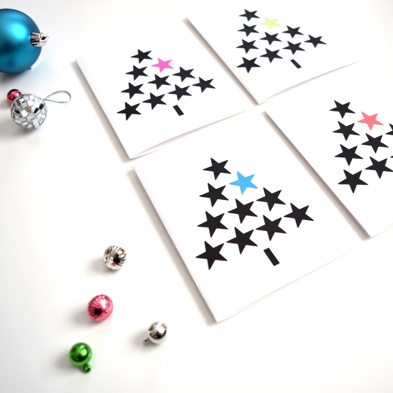 DIY Christmas cards using a star punch - northstory