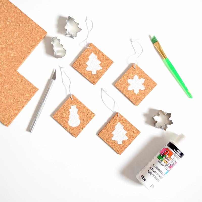DIY Christmas cork ornaments - northstory