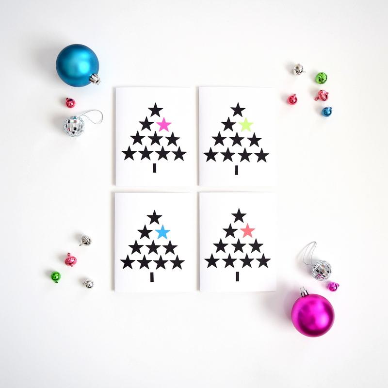 DIY Modern Christmas Cards - northstory