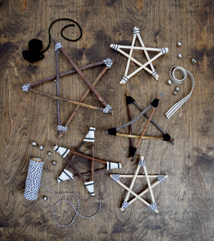 DIY Twig and Wood Dowel Stars - northstory