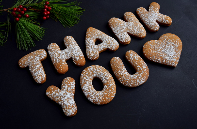 Gingerbread Thank You cookies - northstory