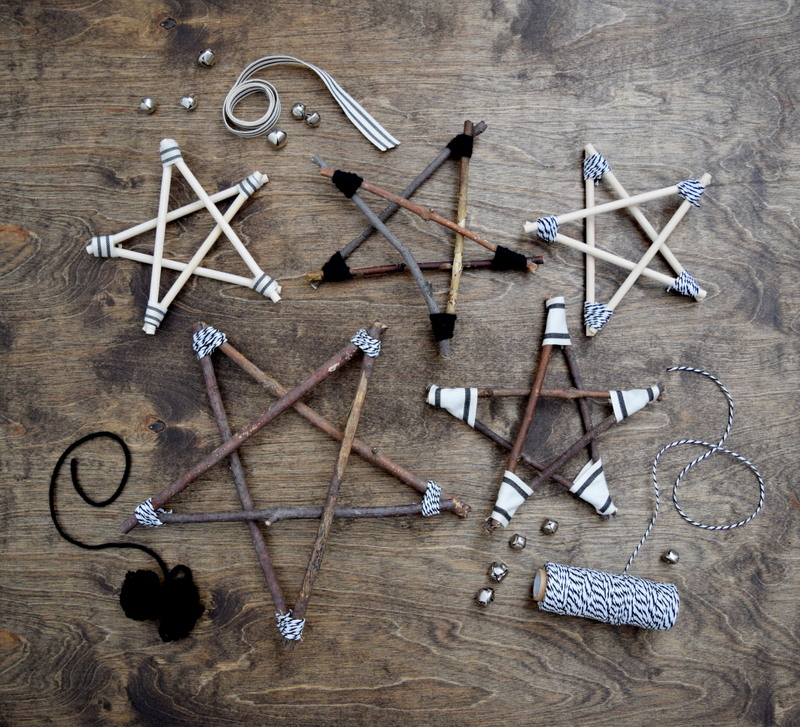 How to make rustic and modern twig stars using twigs & wood dowels - northstory