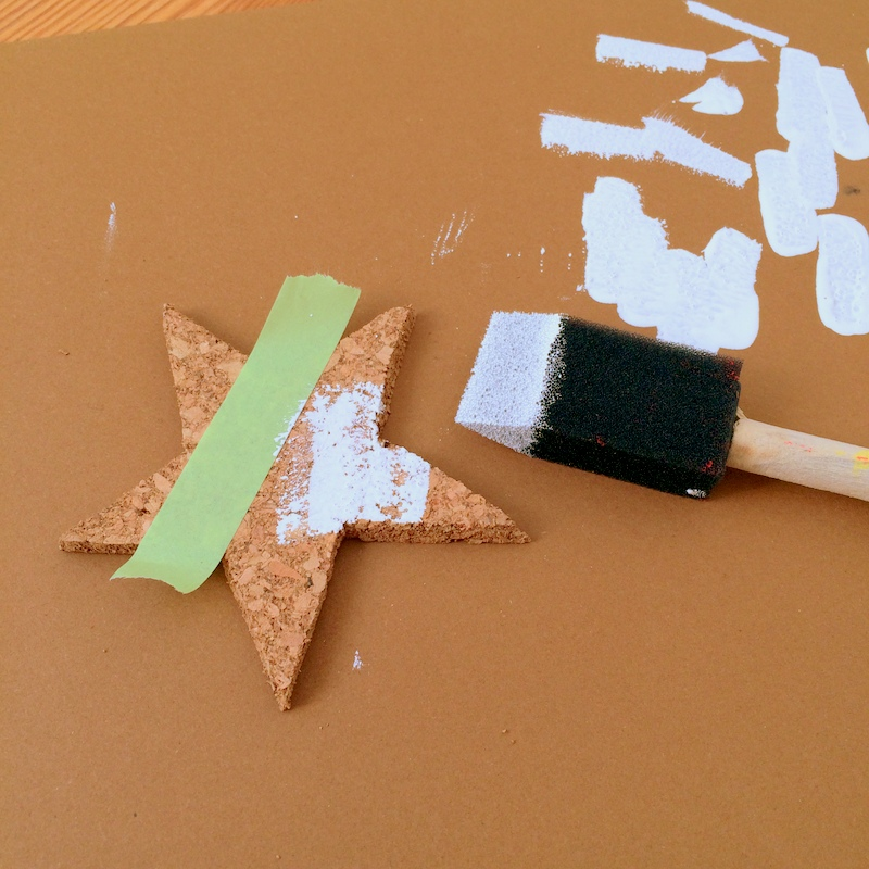 Painting cork ornaments