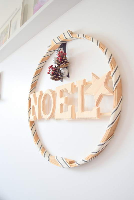 Side view of wood wreath - northstory