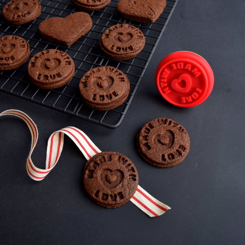 Made with Love - Stamped Chocolate cookies - northstory