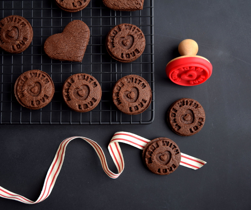 Stamped Chocolate Cookies for Valentine's Day - northstory