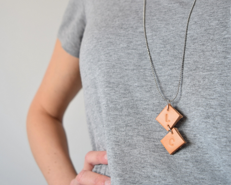 DIY Upcycled Leather necklace - northstory