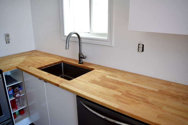 IKEA HAMMARP butcher block countertops - Birch - treated with mineral oil - northstory