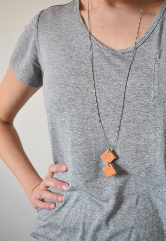 Make your own upcycled leather necklace - northstory