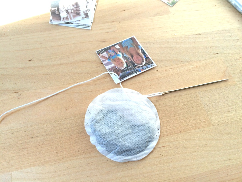 Making tea tags - step 2