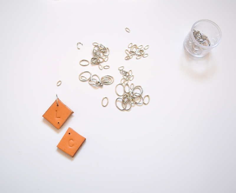 Step 4 - attach your leather pieces with jump rings - northstory