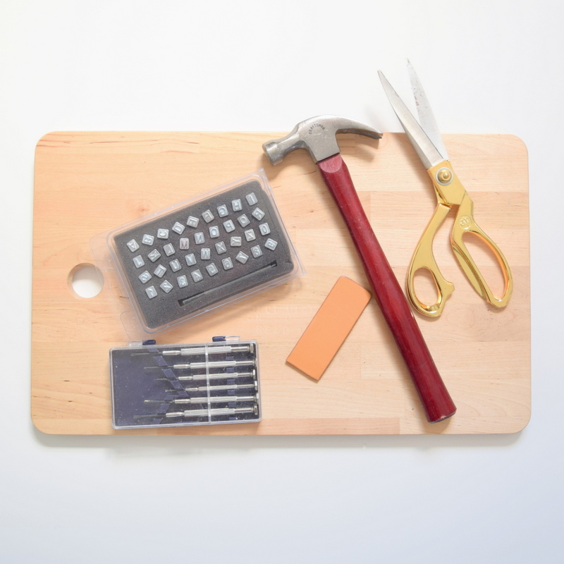Supplies for making a leather necklace pendant - northstory