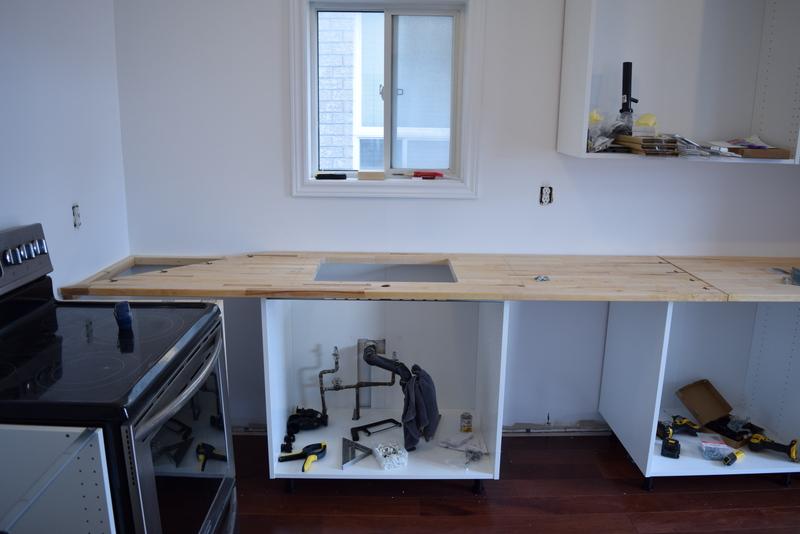 Installing IKEA Butcher Block countertops (1)