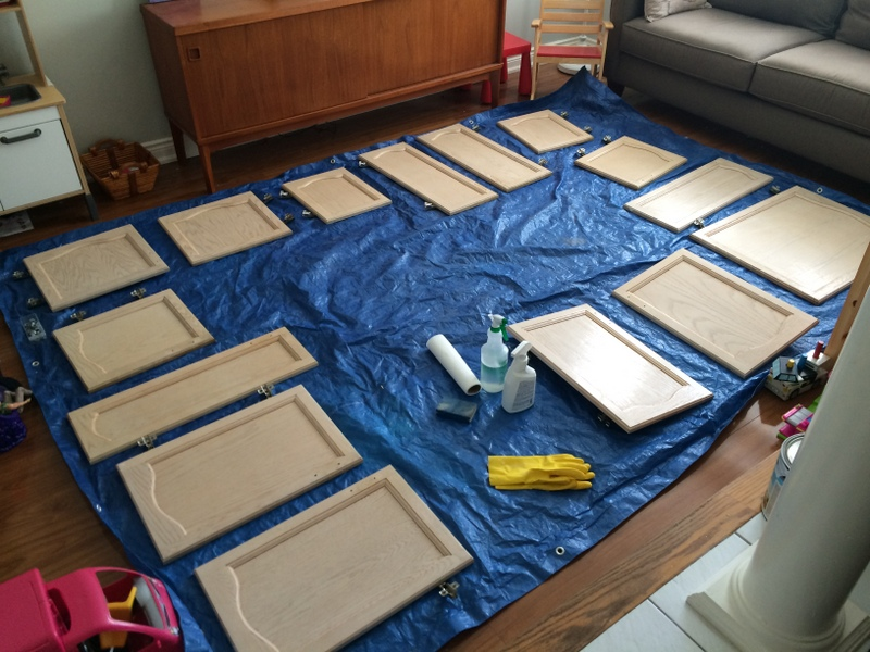 getting-ready-to-paint-the-kitchen-cabinets