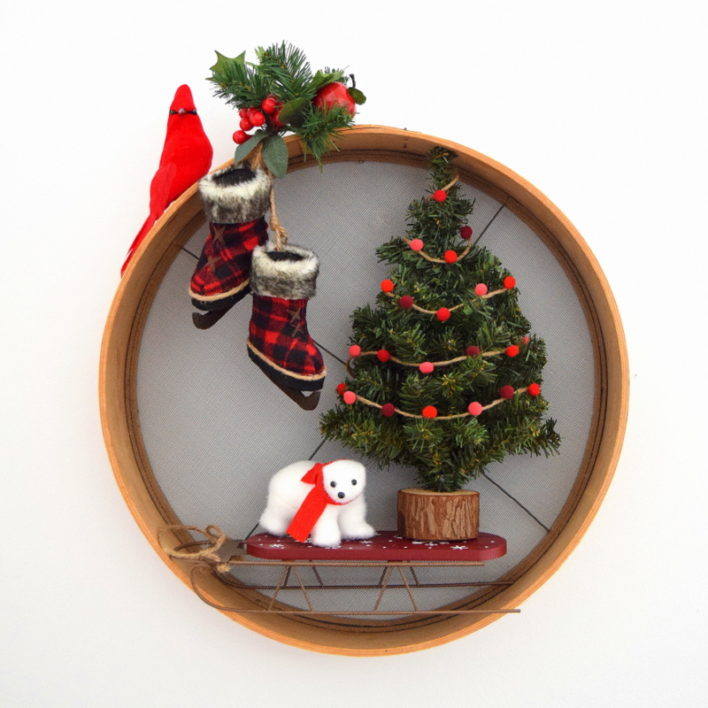 how-to-make-a-christmas-wreath-using-a-sieve-wood-sifter
