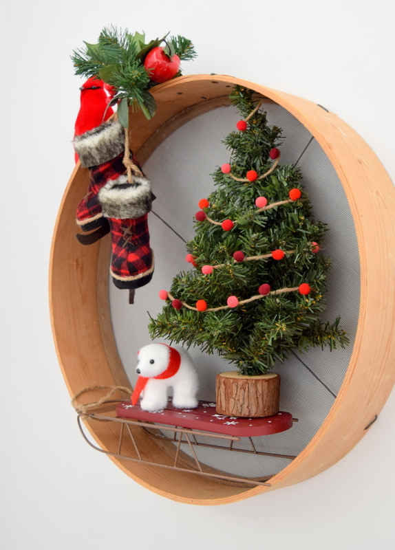 upcycled-christmas-wreath-using-a-sieve