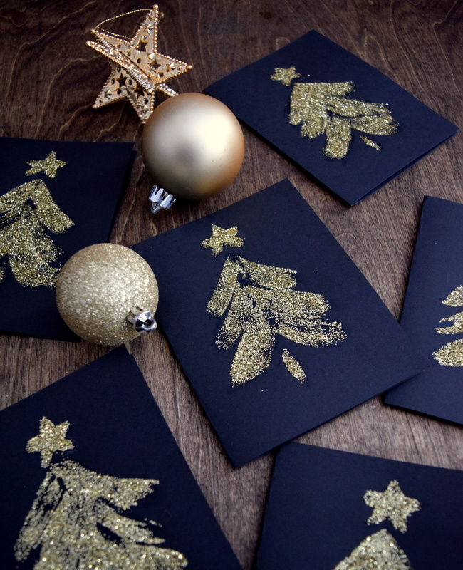 glitter-and-mod-podge-cards