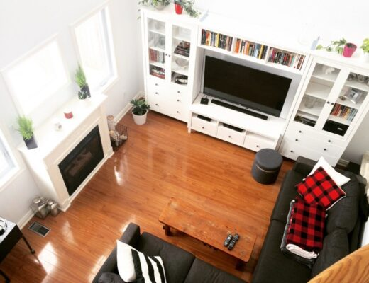 Living room white with IKEA HEMNES wall unit - We experienced a nightmare bathroom renovation. These are the contractors that stepped in to help us and save our bathroom renovation.